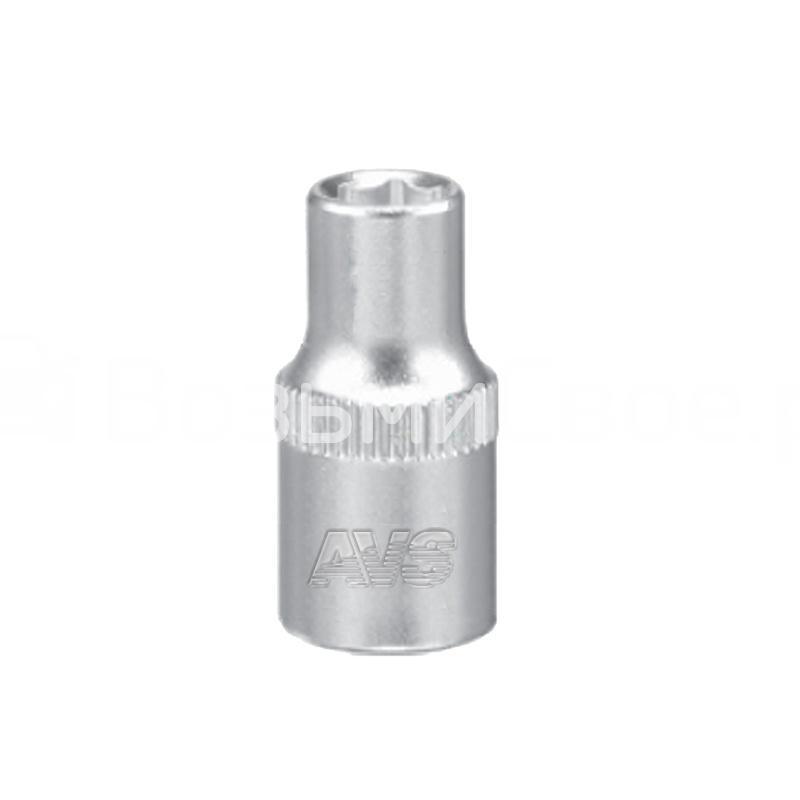 Головка торцевая 6-гранная 1/4''DR (9 мм) AVS H01409