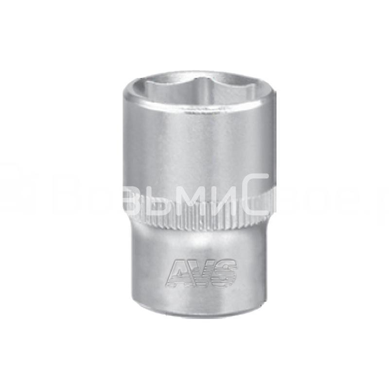 Головка торцевая 6-гранная 1/4''DR (13 мм) AVS H01413