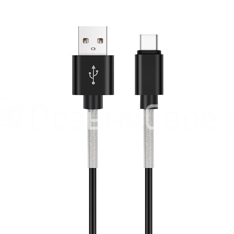 Кабель AVS Type C (1м USB 2.0) усиленный TC-361S (пакет)