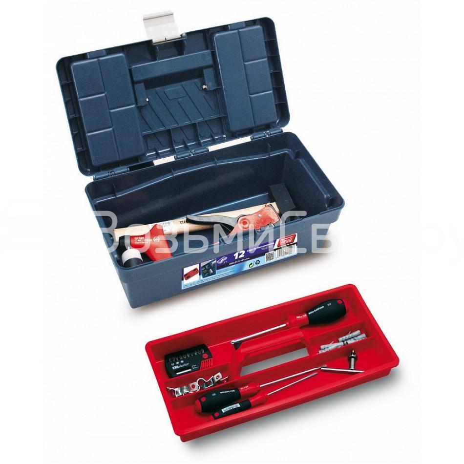 Ящик для инструментов TAYG №12 + лоток + 2 органайзера в крышке