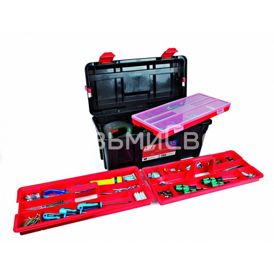 Ящик для инструментов TAYG №35 + 2 лотка + органайзер