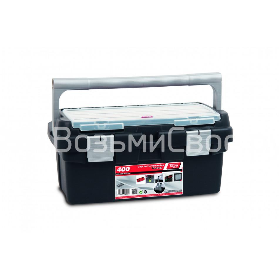 Ящик для инструментов TAYG №400 + лоток + органайзер в крышке.
