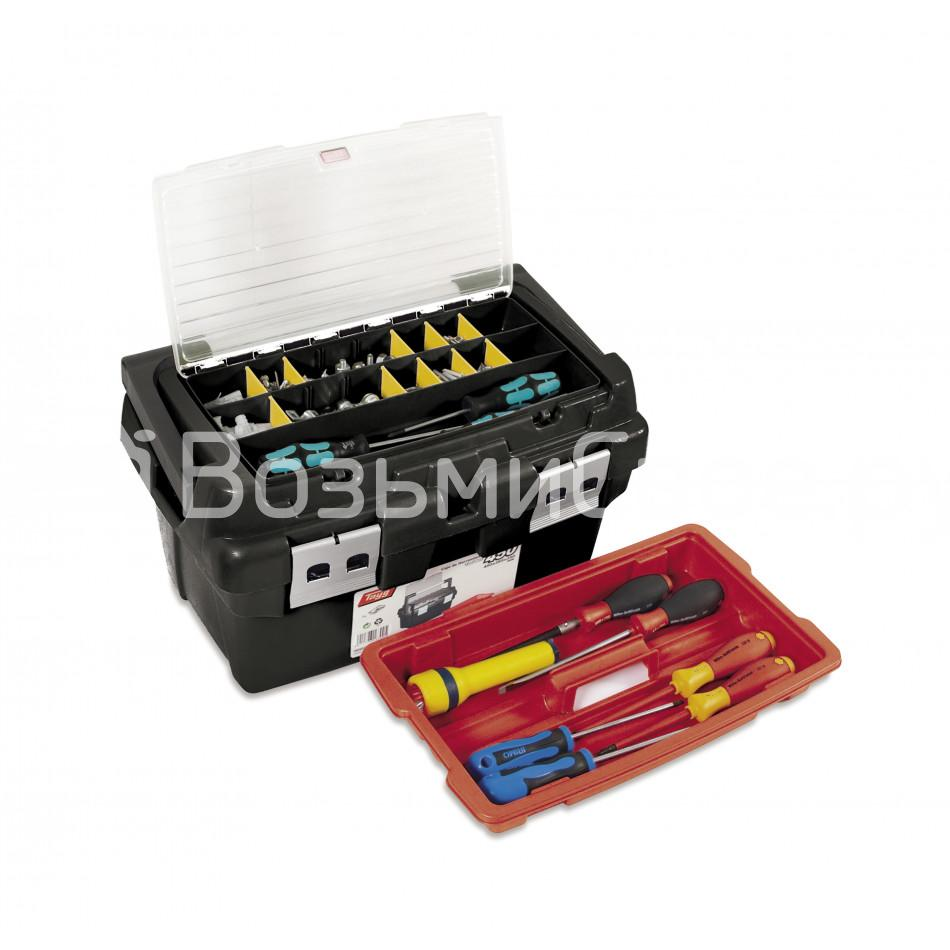 Ящик для инструментов TAYG №450 + лоток + органайзер в крышке