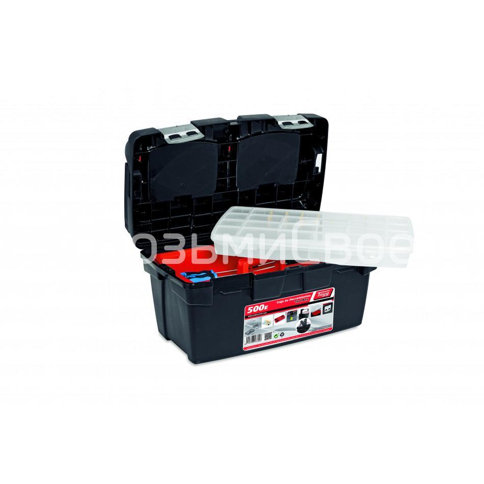 Ящик для инструментов TAYG №500E + лоток + органайзер + 2 съемных органайзера в крышке