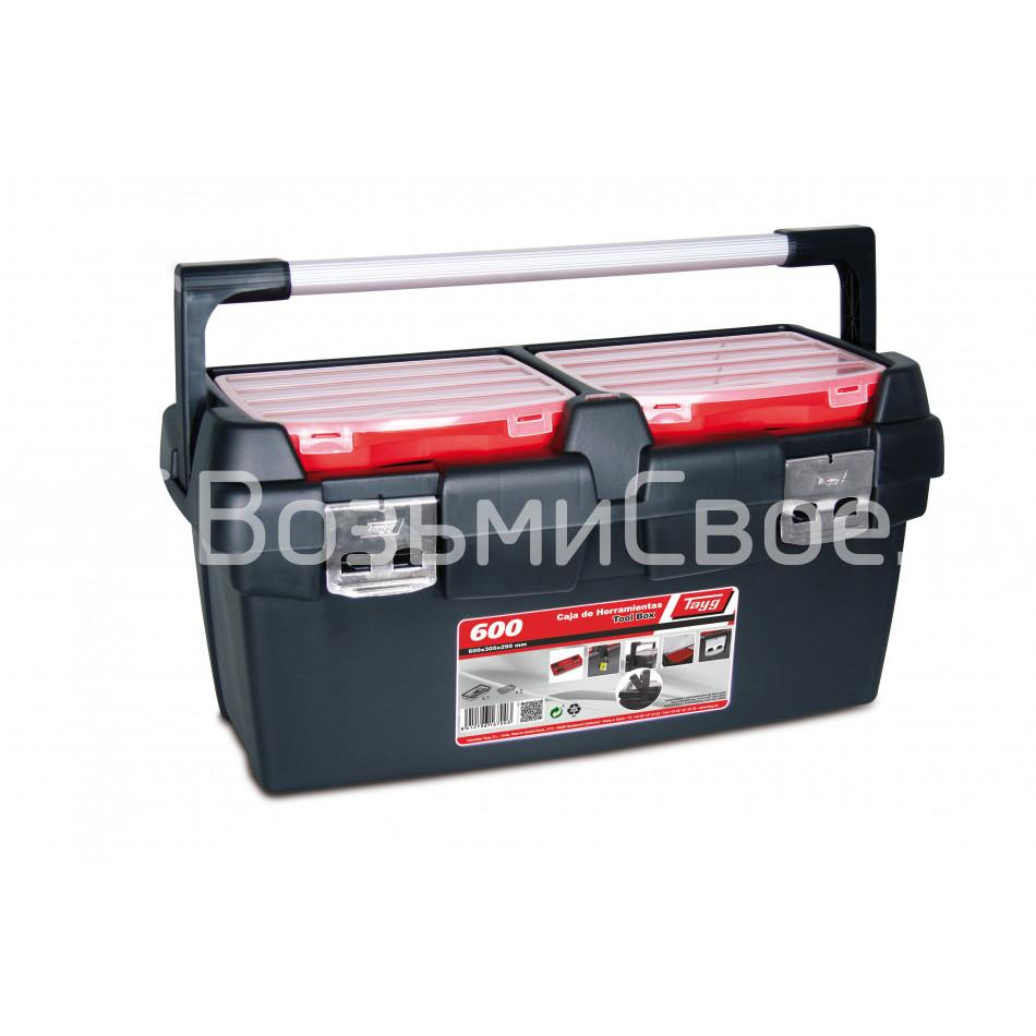 Ящик для инструментов TAYG №600 + лоток + 2 съемных органайзера в крышке