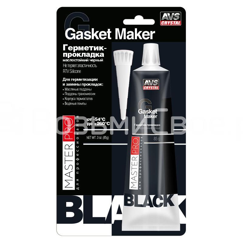 Герметик-прокладка маслостойкий черный 85 гр. AVS AVK-346