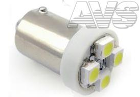 T8 В007 /белый/ (ВА9S) 4SMD 3258 T4W,10 шт.