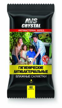 Влажные салфетки Антибактериальные 60 шт. AVS AVK-208