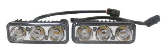 Дневные ходовые огни (DRL) AVS DL-3 (4.5W, 3 светодиода х 2 шт.)