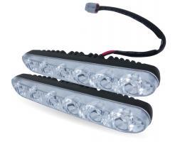 Дневные ходовые огни (DRL) AVS DL-6B (6W, 6 светодиодов х 2 шт.)