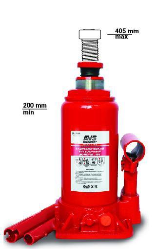 Домкрат гидравлический AVS HJ-B10T, 10т, 200-405мм.